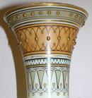Pair Egyptian Motif Opaline Glass Vases