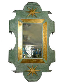 Patinated Metal Mirror After Arbus & Poillerat