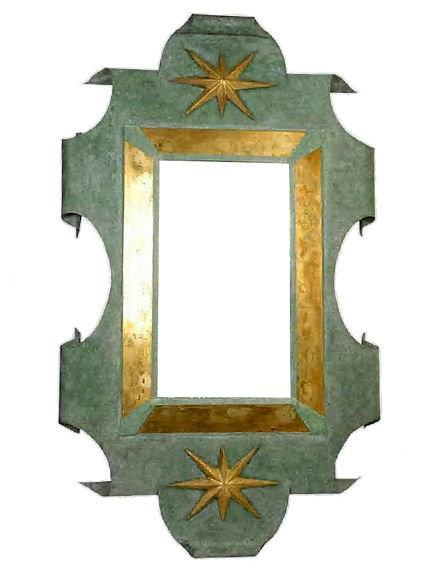 Patinated Metal Mirror After Arbus & Poillerat