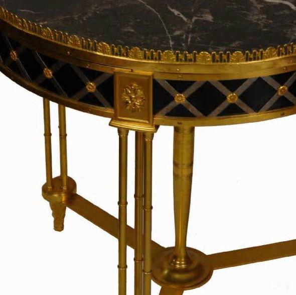 Directoire Style Bronze Marble Gueridon