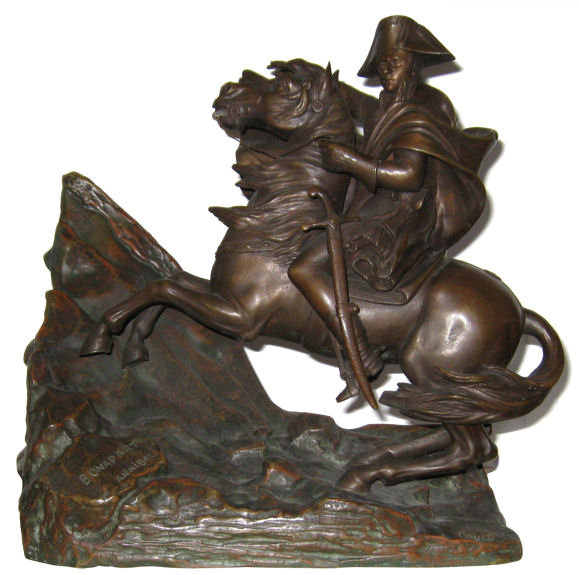 Napoleon Crossing Alps Bronze After David