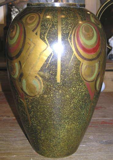 French Art Deco Dinanderie Bronze Vase by Charles
