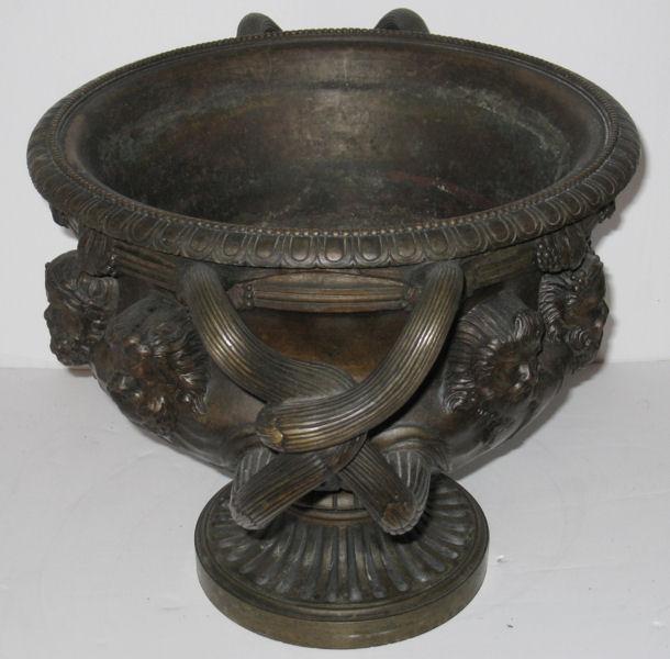Antique Neoclassical Bacchanalian Bronze Albani Vase