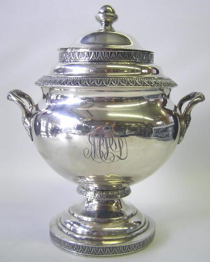 Antique Bailey & Kitchen Silver Tea Set Circa 1840
