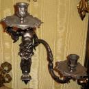 Pair Antique French Regence Style Sconces in Manner of Andre Charles Boulle