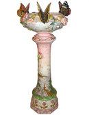 Delphin Massier Majolica Jardiniere & Pedestal