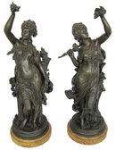 La Vigne Bronze Sculptures After Moreau