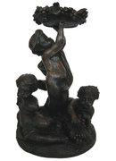 Antique Putti Grape Harvest Bronze Sculpture