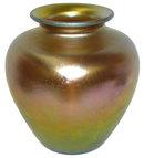 Steuben Iridescent Gold Aurene Glass Vase