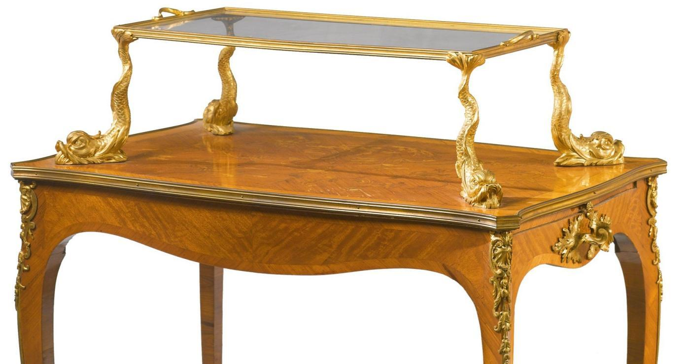 Antique Louis XV Style Etagere Table