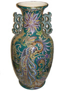 Monumental Antique Wasmuël Barbotine Faïence Vase