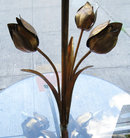 Mid-Century Floral Tole Metal Floor Lamps