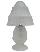 Art Deco Daum Frosted Glass Table Lamp