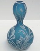 Thomas Webb Cameo Glass Bud Vase