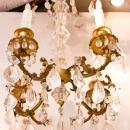 Antique French Bagues Style Gilt and Rock Crystal Chandelier