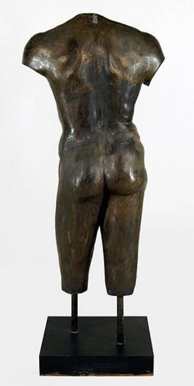 Lifesize Bronze Female and Male Torsos After the Antique