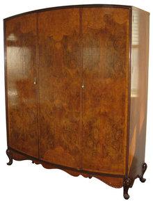 Large Art Deco Period Burlwood Armoire