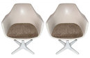 Pair of Burke Armchairs After Eero Saarinen