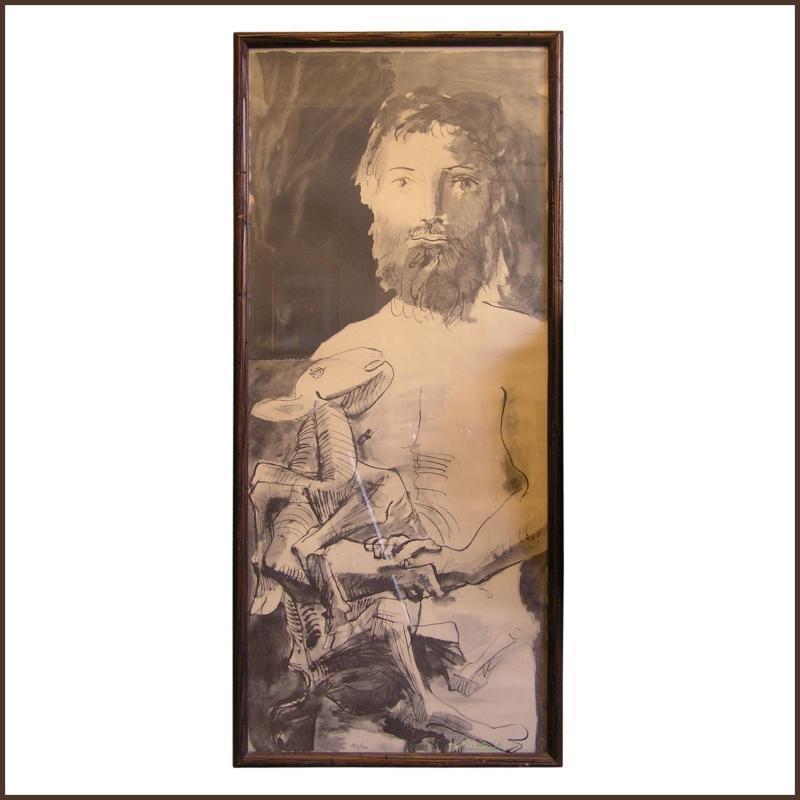 Etude pour l'Hommeau Mouton Lithograph by Pablo Picasso