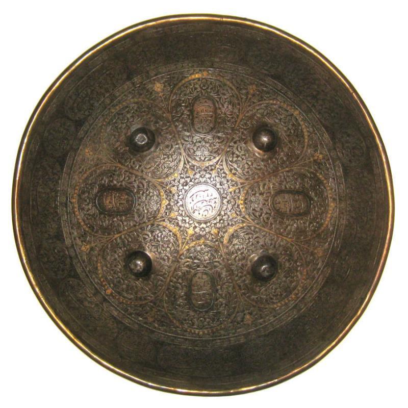 Antique Qajar Indo-Persian Sipar Shield Estate of Rudolph Valentino