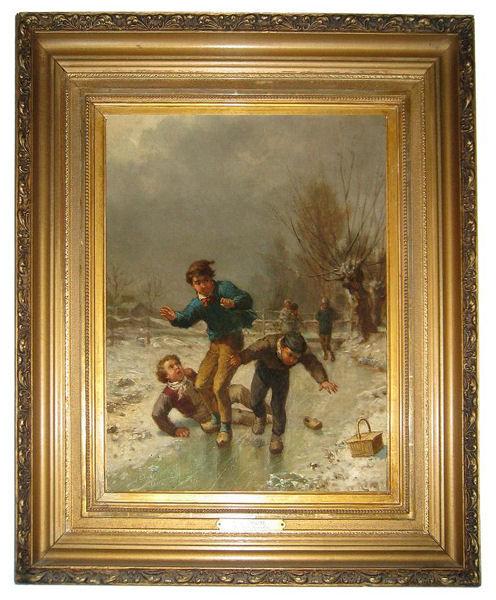 James Crawford Thom Winter Genre Painting