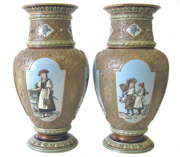 Pair Villeroy & Boch Stoneware Vases