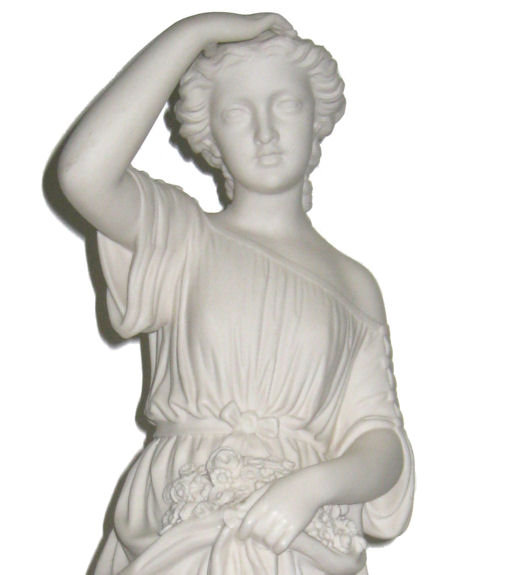 Antique English Copeland Parian Bisque Sculpture Entitled Sunshine by William Brodie