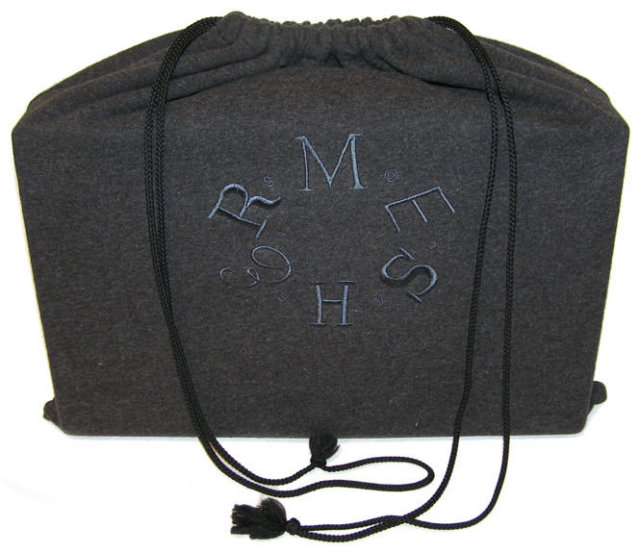 Hermes Black Leather Jewelry Case
