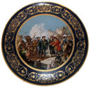Christopher Columbus Vienna Porcelain Charger