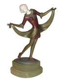 Josef Lorenzl Chryselephantine Bronze Sculpture