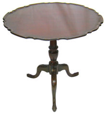 Antique Mahogany Tilt Top Tripod Table