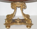 Antique Ormolu Bronze & Rouge Marble Tazza Centerpiece