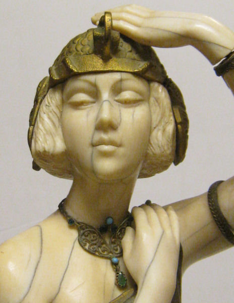 Marcel Andre Bouraine Art Deco Chryselephantine Bronze