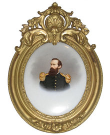 Prussian or German Military Officer Balque KPM Plaque
