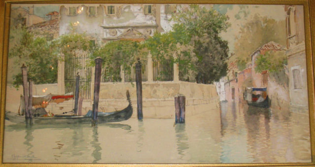Venice Canal Watercolor by Francis Hopkinson Smith