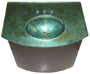 Mahogany & Acid-Etched Glass Sink by Joe Ginsberg