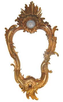 Dore Bronze Rococo Chippendale Louis XV Style Mirror