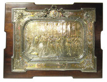 1884 Morel Laveuil Shakespeare Elkington Silver Plaque