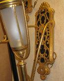Pair Antique Bronze Coach Lights Lamps