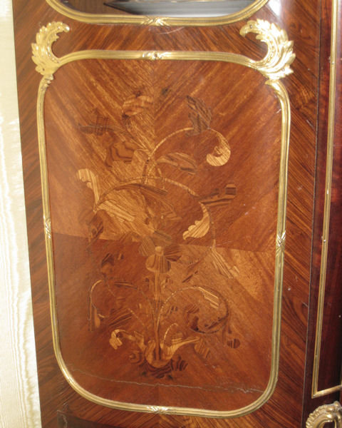 Antique Bronze Mounted French Louis XV Style Vitrine