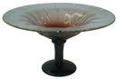 Schneider Violet Glass Centerpiece Footed Bowl