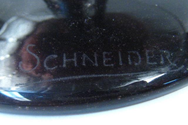 Schneider Violet Glass Centerpiece Footed Bowl