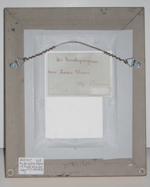 Antique Gothic Portrait Plaque by Flander After Louis Ammy Blanc for Hutschenreuther