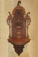 Pair of Neoclassical Carved Wooden Wall Brackets