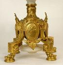Antique French Louis XIV Style Bronze & Onyx Centerpiece