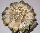 Mid-century 4-Light Flower Petal Metal Wall Sconce