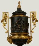 Louis Clodion Attributed Pair of Louis XVI Bronze Urns