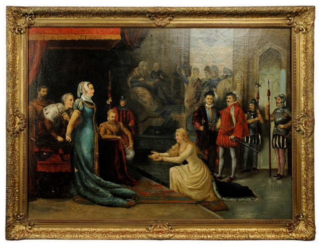 Audience with Queen Elizabeth I Oil on Canvas