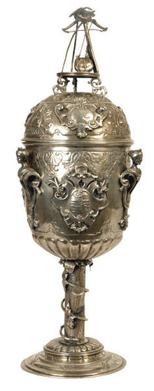 Prussian Silver Hunting Pokal Goblet