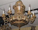 Antique Bronze Chandelier Attributed to E.F. Caldwell